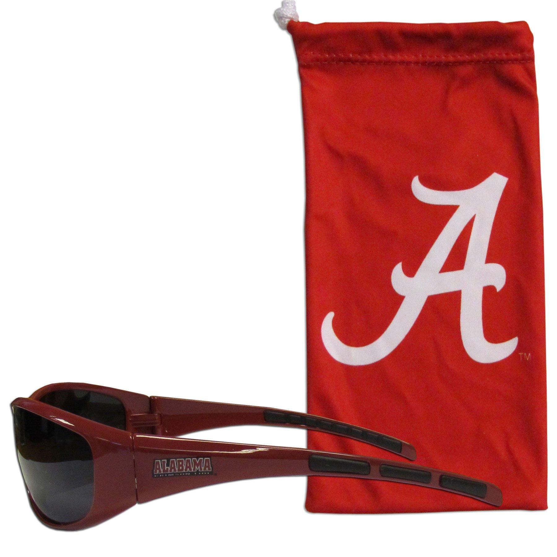 Siskiyou NCAA Alabama Crimson Tide Adult Sunglass and Bag Set, Red