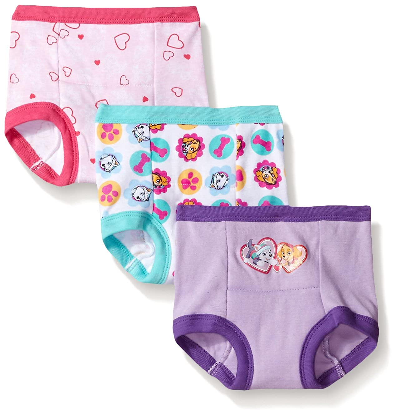 PAW Patrol Girls' Toddler 3-Pack, Assorted, 4T