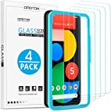 OMOTON [4-Pack] Screen Protector for Google Pixel 5 - Tempered Glass, Bubble Free, Scratch Resistant, Quick Response, 2…