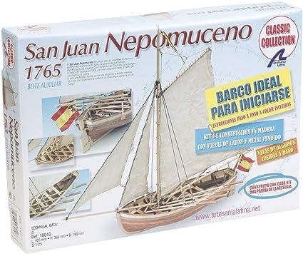 Artesanía Latina 18010. Maqueta de Barco en Madera. Lancha Nepomuceno 1/25: Amazon.es: Juguetes y juegos