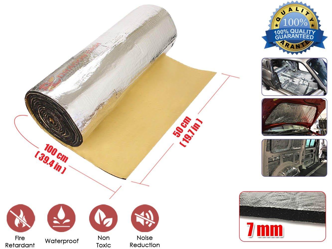Alfombrilla de espuma de Deadener Super Dash con paneles ignífugos de aluminio: Amazon.es: Coche y moto