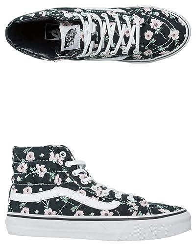 0aa1b1bc29 Vans New Women s Vintage Floral Sk8-Hi Slim Shoe Lace Canvas  Amazon ...