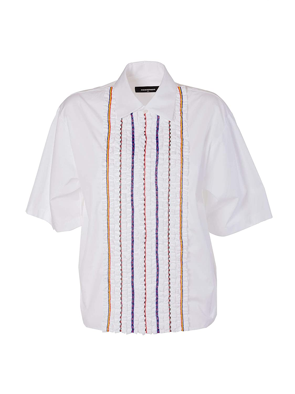 Dsquared2 Women's S72DL0540S36275100 White Cotton Shirt