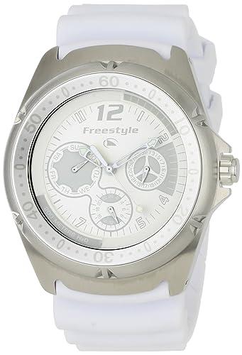 Freestyle Hammerhead Dive - Reloj cronógrafo de mujer de cuarzo con correa de goma blanca: Amazon.es: Relojes