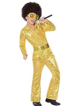 Atosa-56907 Disfraz Disco, Color Dorado, 10 a 12 años (56907 ...