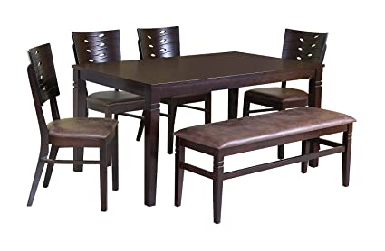 Parekh Seater Dining Table Wood Finish Brown Amazonin Home - 5 seater dining table