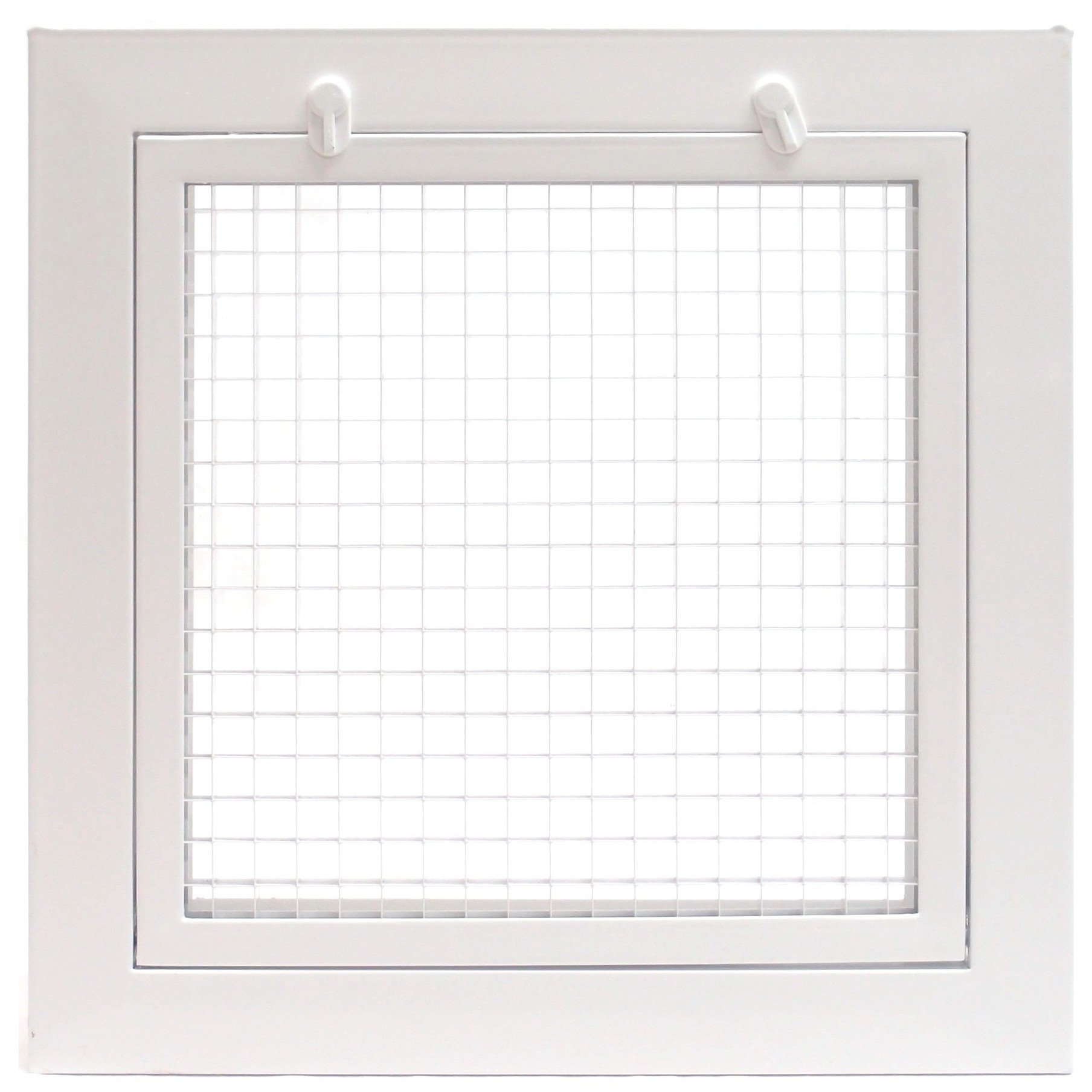 20'' x 30'' Cube Core Eggcrate Return Air Filter Grille for 1'' Filter - Aluminum - White [Outer Dimensions: 22.5'' w X 32.5'' h]