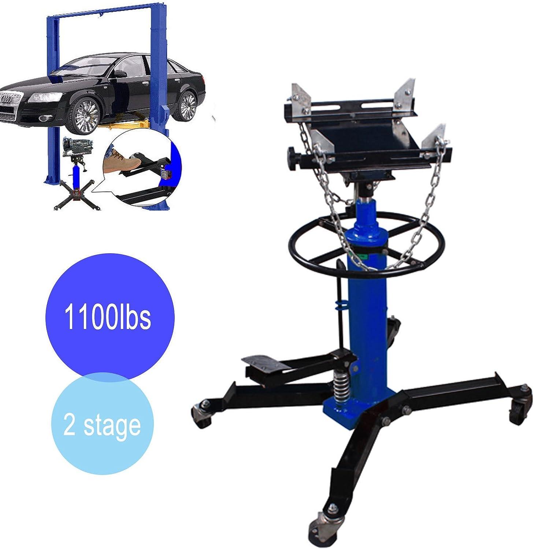 Iglobalbuy 2 Stage 1100lb Adjustable Height Hydraulic Telescoping Transmission Jack}