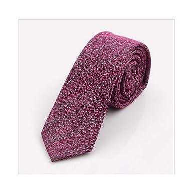 Sólido lazo de algodón 6 cm delgado corbata de rayas de los ...