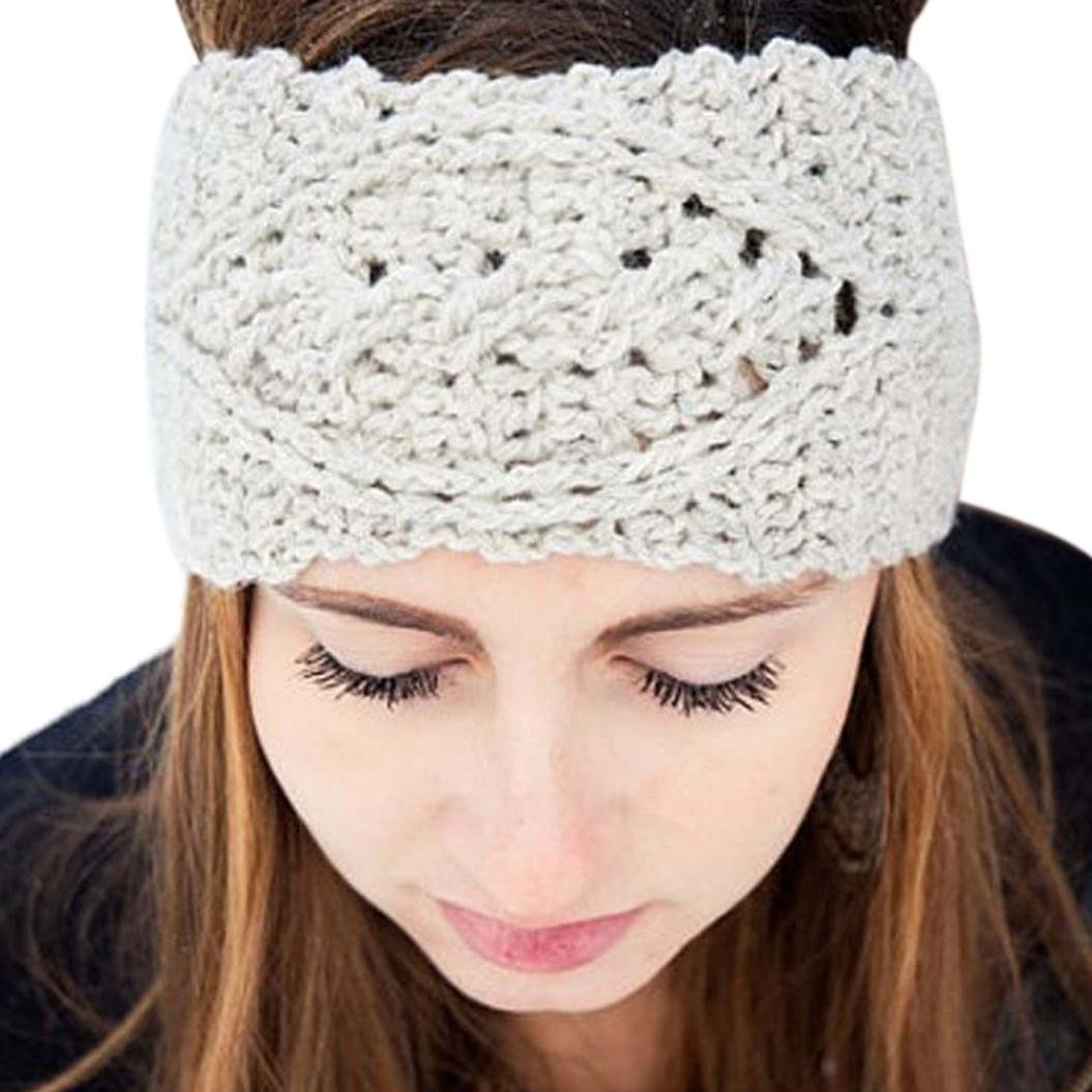 Susenstone/®Womens Winter Hat Skiing Cap Knitted Beanie Headband