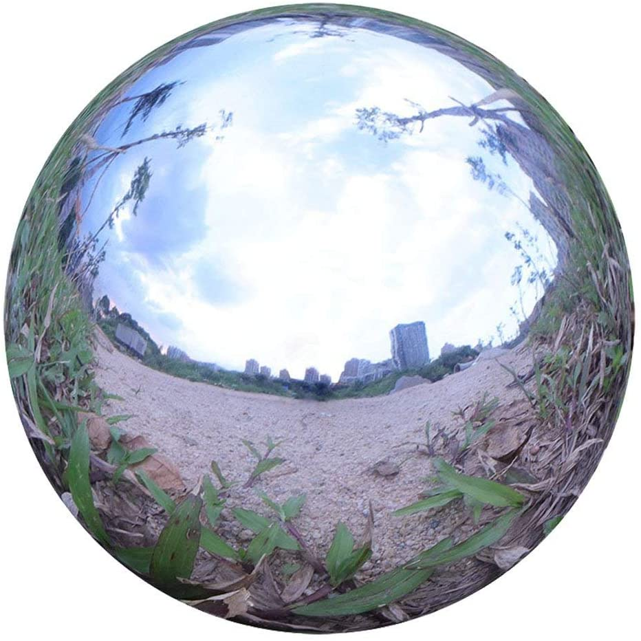 Durable Stainless Steel Gazing Ball, Hollow Ball Mirror Globe Polished Shiny Sphere for Home Garden (12 Inch)
