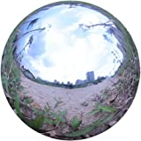 Durable Stainless Steel Gazing Ball, Hollow Ball Mirror Globe Polished Shiny Sphere for Home Garden (7 Inch)