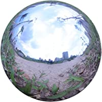 Durable Stainless Steel Gazing Ball, Hollow Ball Mirror Globe Polished Shiny Sphere for Home Garden (6 Inch)