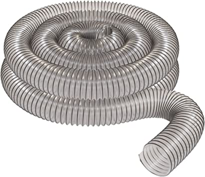 4 X 20 Clear Pvc Dust Collection Hose By Peachtree Woodworking Pw376 Amazon Co Uk Diy Tools
