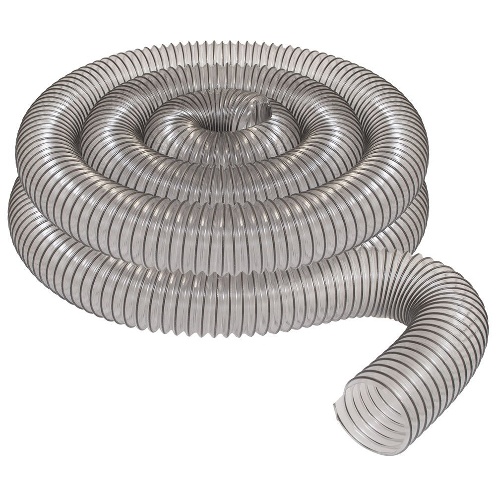 """4"""" x 20' CLEAR PVC DUST COLLECTION HOSE BY PEACHTREE WOODWORKING PW376"""