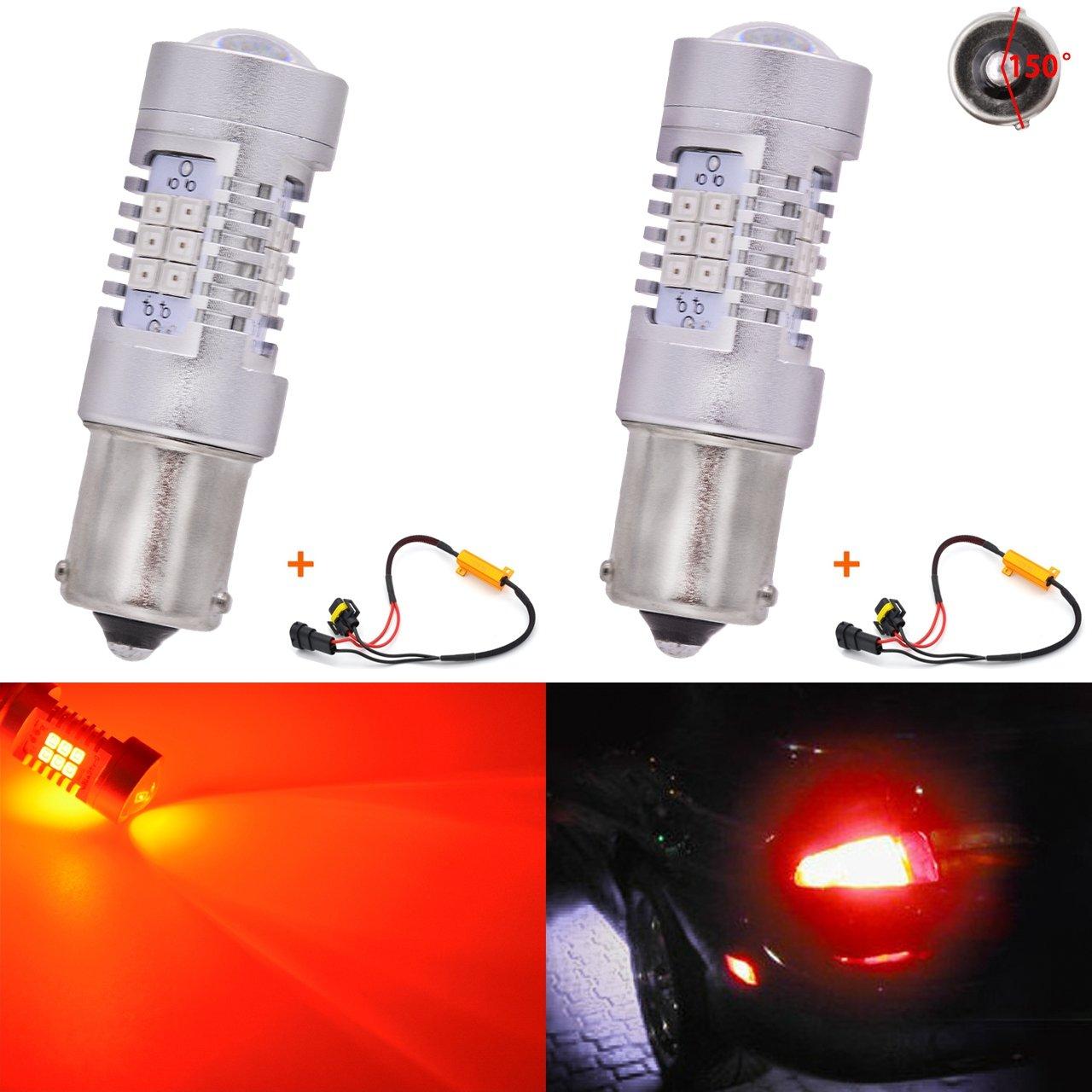 KaTur H8 H9 H11 LED Fog Light Bulbs Max 80W High Power Super Bright 2000 Lumens 3000K Amber with Projector for Driving Daytime Running Lights DRL or Fog Lights,12V Pack of 2 24V