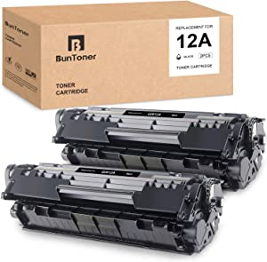 BUNTONER Compatible Toner Cartridges Replacement for HP Q2612A 12A use with HP Laserjet 1020 1022 1012 3015 3055 3050 3052 1010 Laserjet M1005 M1319 M1319f M1319f MFP (Black, 2-Pack)