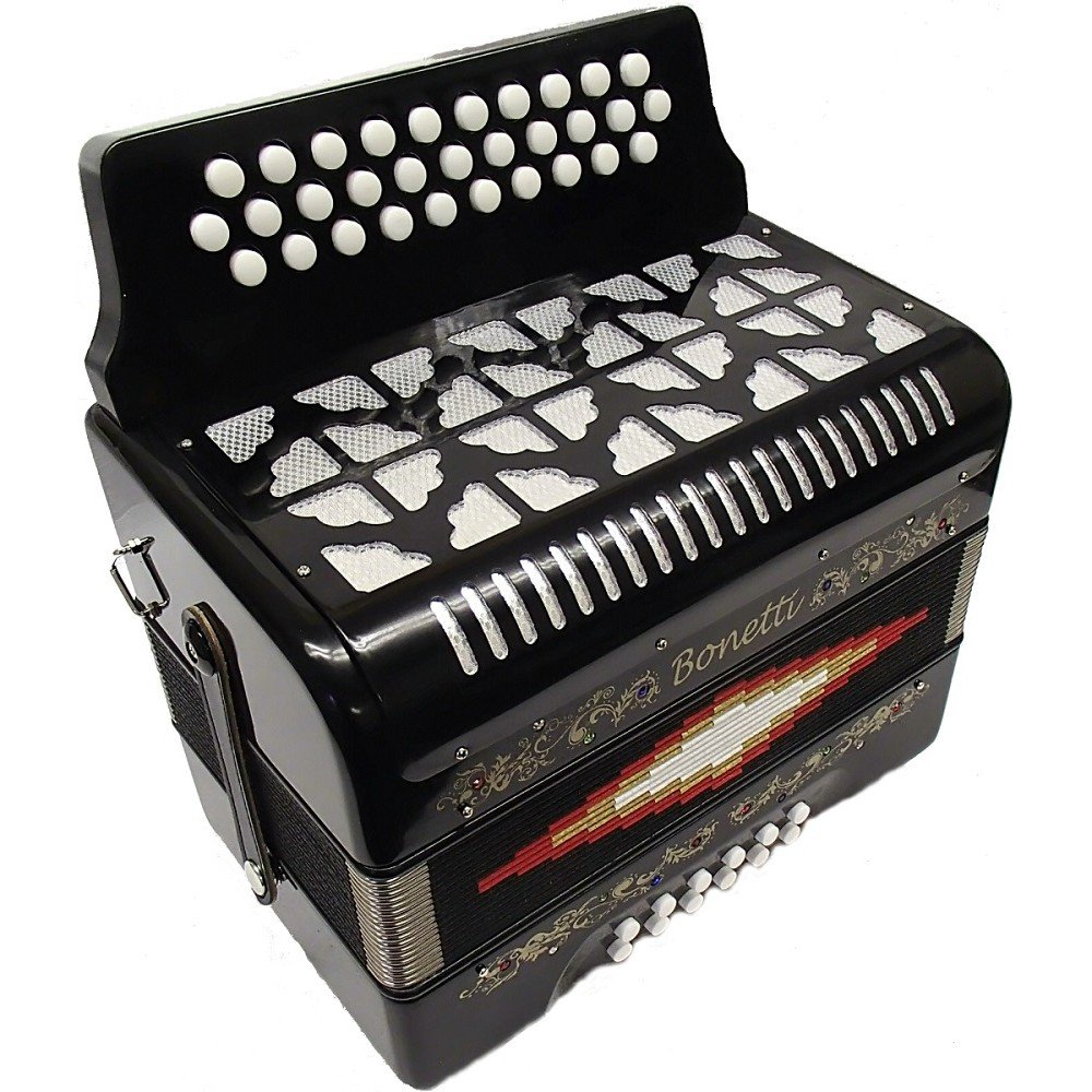 Bonetti Black Diatonic Button Accordion FBE 3012 by Bonetti (Image #3)