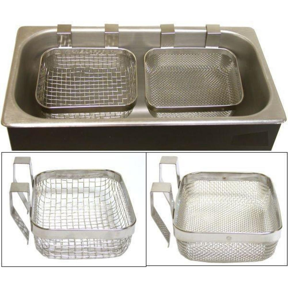 2 Ultrasonic Jewelry Cleaning Baskets Cleaner Tools