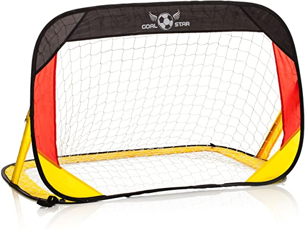 120/x 80/x 80/cm; montaggio automatico pieghevole con borsa per il trasporto porta da calcio Goal Star Pop-Up