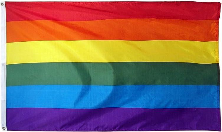 "4x6 foot RAINBOW 4/'X6/' FLAG 48/""X72/"" BIG NEW GAY PRIDE HUGE House banner grommet"