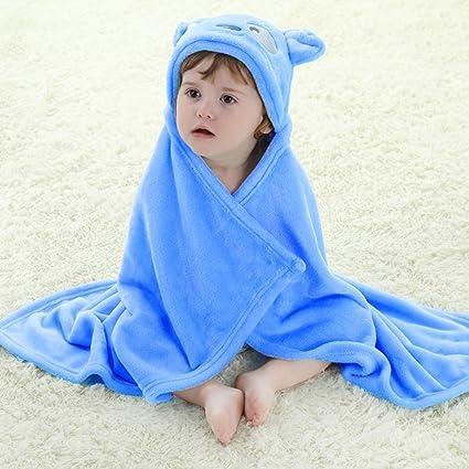 niceEshop(TM) Pato 3D del Bebé Recién Nacido con Capucha Baño Mantas Toalla (Azul Cachorros)