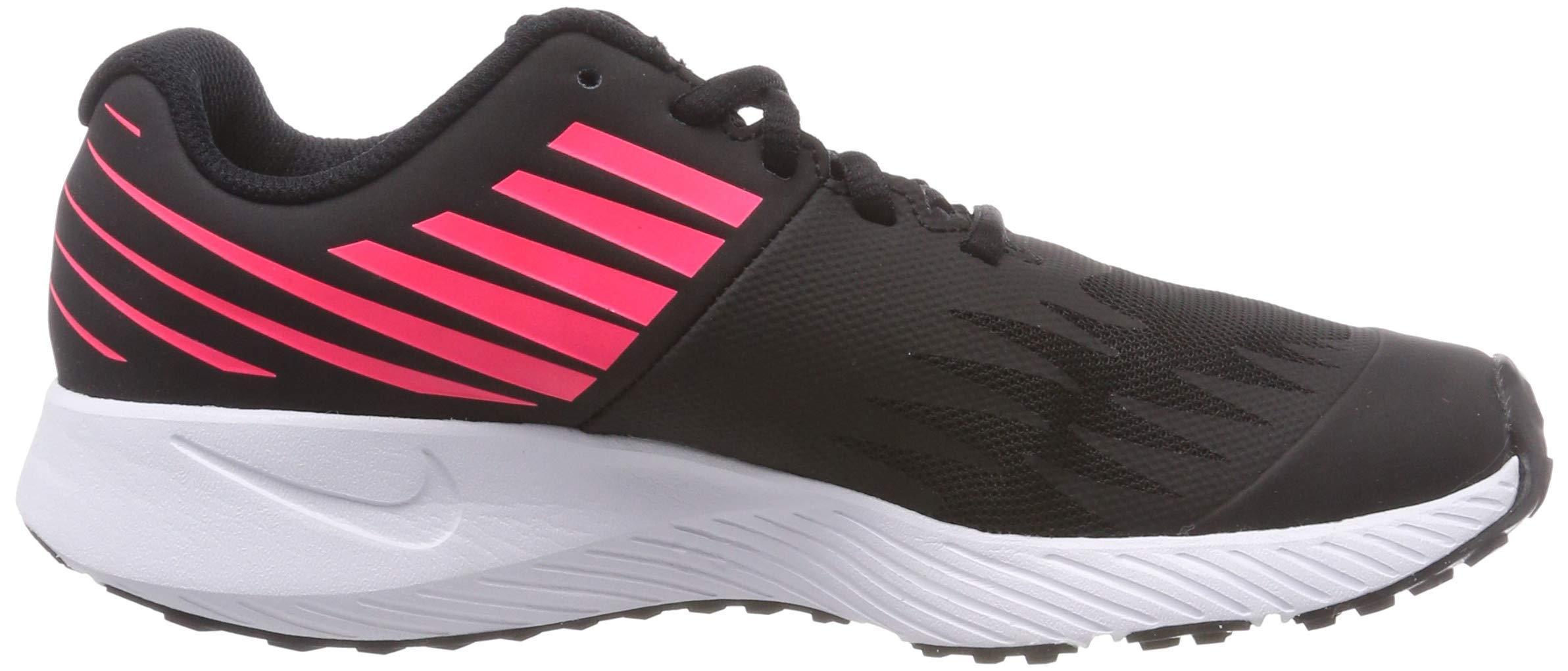 Nike Girl's Star Runner (GS) Running Shoe Black/Metallic Silver/Racer Pink/Volt Size 3.5 M US by Nike (Image #7)