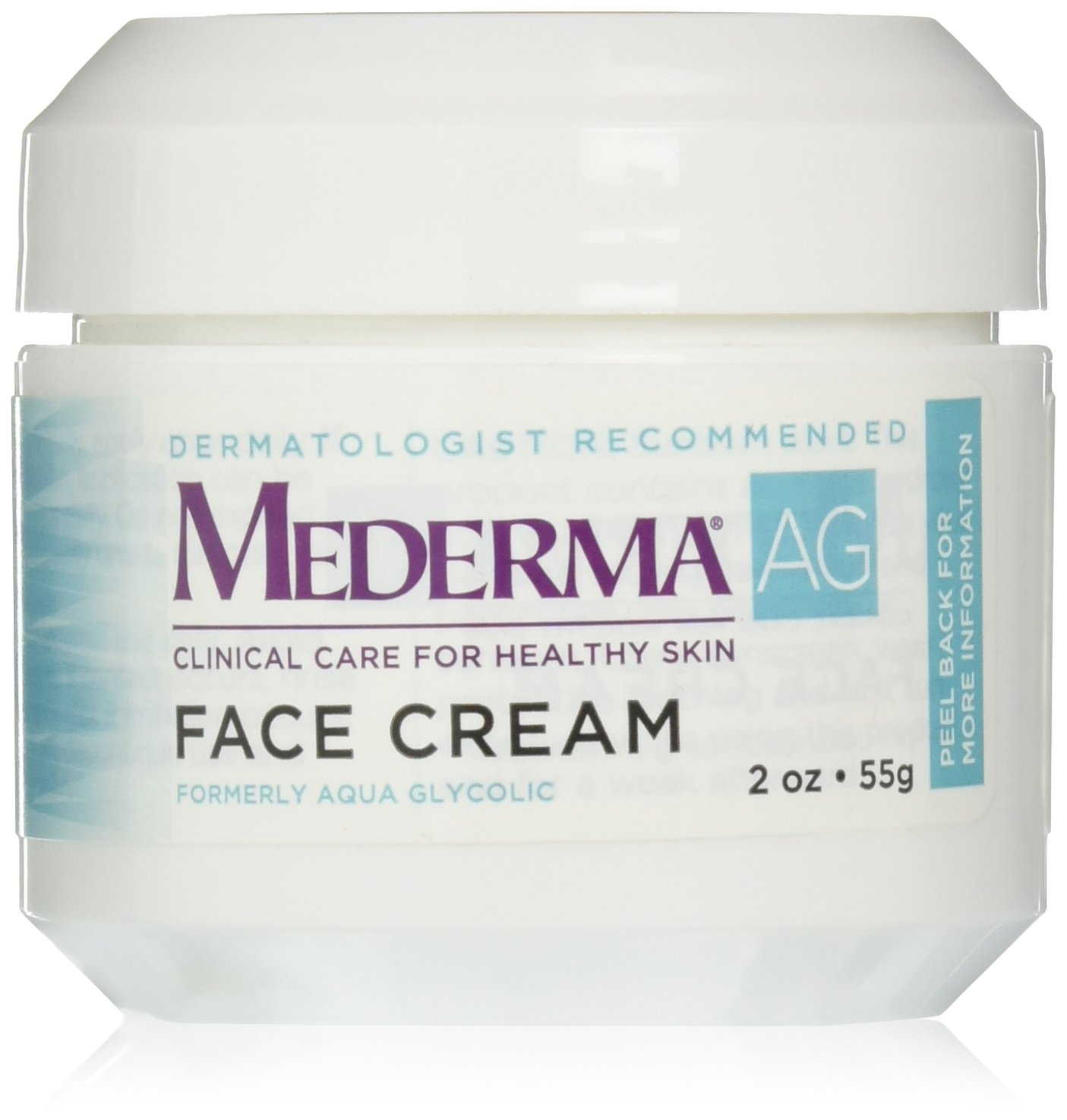 Mederma AG Moisturizing Face Cream – with hyaluronic acid for moisture and glycolic acid to gently remove rough, dry skin – dermatologist recommended brand - fragrance-free, hypoallergenic - 2 ounce