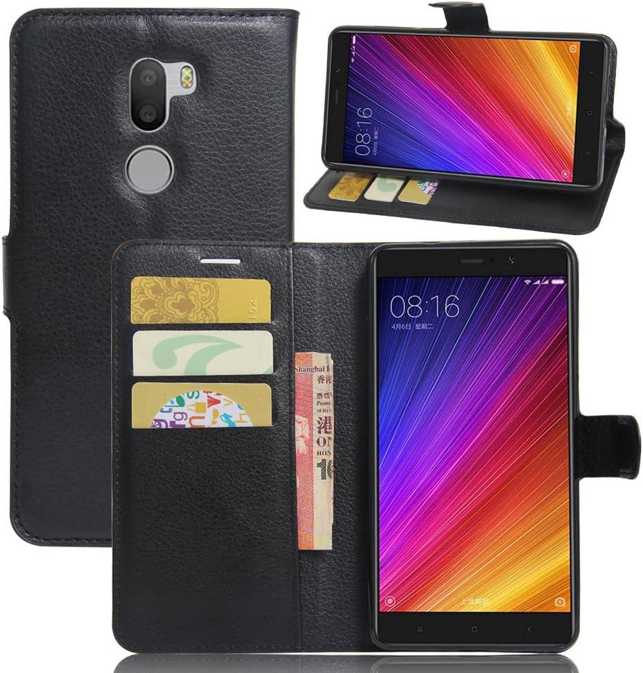 Xiaomi Mi 5s Plus funda, cartera de piel sintética Premium teléfono celular protector casos Flip Cover Con Soporte y ID crédito ranuras para tarjetas cierre magnético para Xiaomi Mi 5s Plus Smartphone: