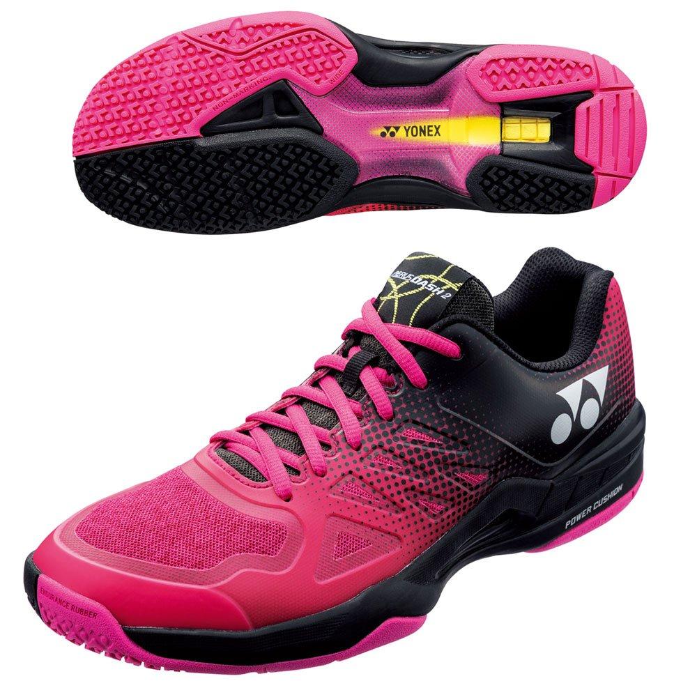 [ヨネックス] テニスシューズ POWER CUSHIONA ERUSDASH 2 WIDE GC B07D7S6K67 28.5 cm ブラック/ピンク(181)