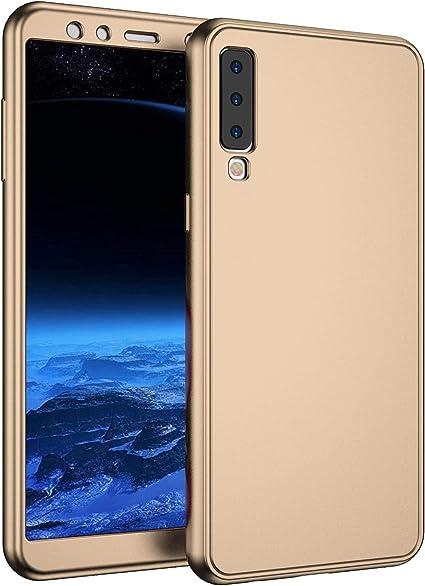 Hpory - Funda de silicona para Samsung Galaxy A7 2018, 360 grados ...