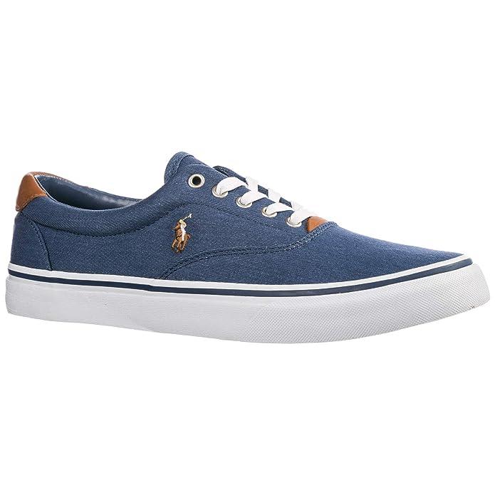 Polo Ralph Lauren Thorton Zapatillas Deportivas Hombre BLU Navy Newport: Amazon.es: Zapatos y complementos