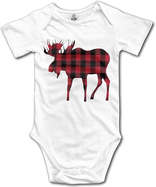 Amazon Com Ballkleid Clon Plaid Moose Lumberjack Red Black Boy Bodysuit Newborn Clothes Clothing