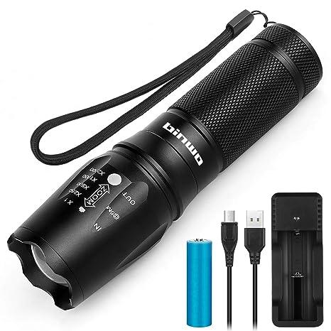 USB wiederaufladbare T6 LED   Mini Taschenlampe Sport im Freien Licht Lampe 0U