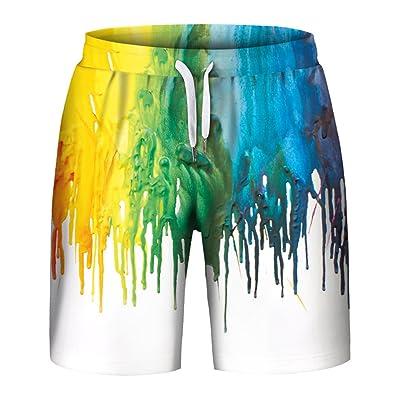 Aieoe Mens Unisex 3D Printed Shorts Casual Drawstring Pocket Shorts for Workout Basketball Swim Gym | Amazon.com