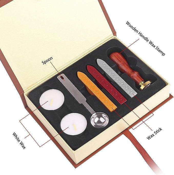 Kit De Personalizado Sellos De Lacre, Harry Potter Lacre, Juego De Caja De Regalo Con Sello De Pintura Al Fuego (Harry Potter)