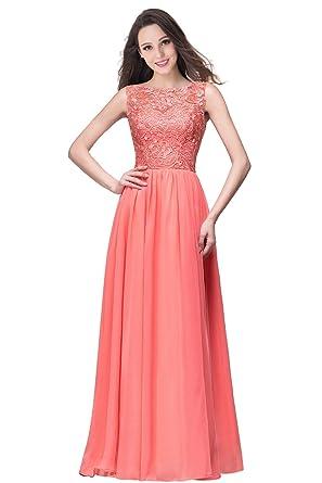 Brautjungfernkleid lang pink