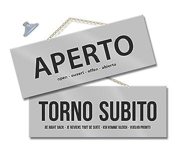 Politarghe - Maxi cartel con inscripción en italiano «Aperto ...