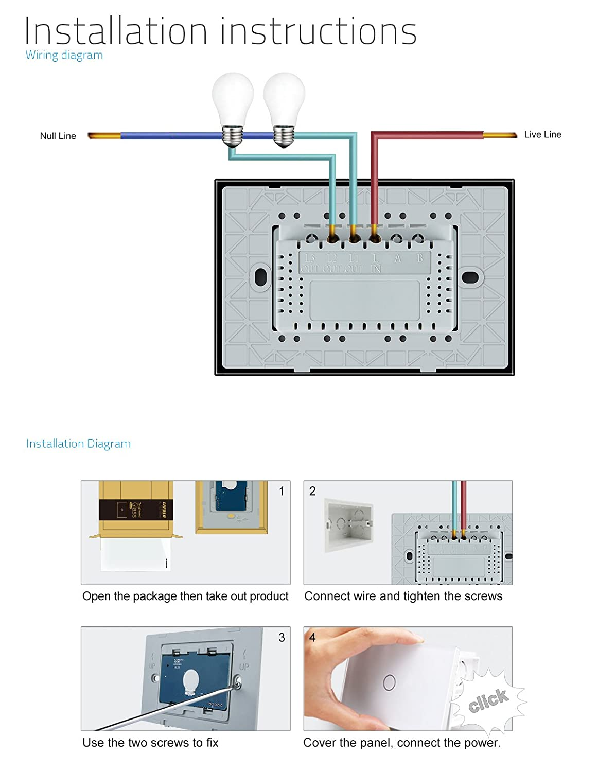 Wiring Diagram For 2 Gang 1 Way Light Switch