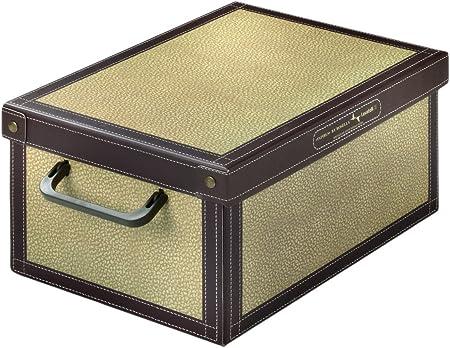 ☆ Caja de almacenaje decorativa ☆ Cartón práctico con tapa y asas estables   Diseño Tapirus