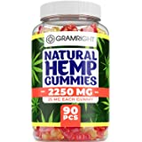 Natural Hemp Gummies - Ultra Volume 2250Mg - 90pcs - Premium Hemp Extract - Relieve Stress, Pain and Anxiety - Sleep and Mood Balance - Omega 3,6,9 - Made in USA