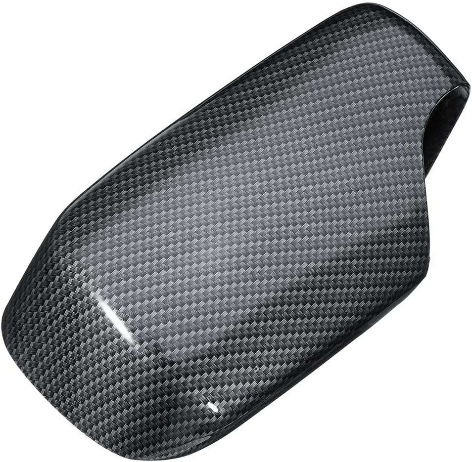1 par Espejo retrovisor Covers patr/ón de Fibra de Wing Mirror Cap,Side Carbono Caps reemplazo para BMW E46 1998-2005 51168238376 51168238375