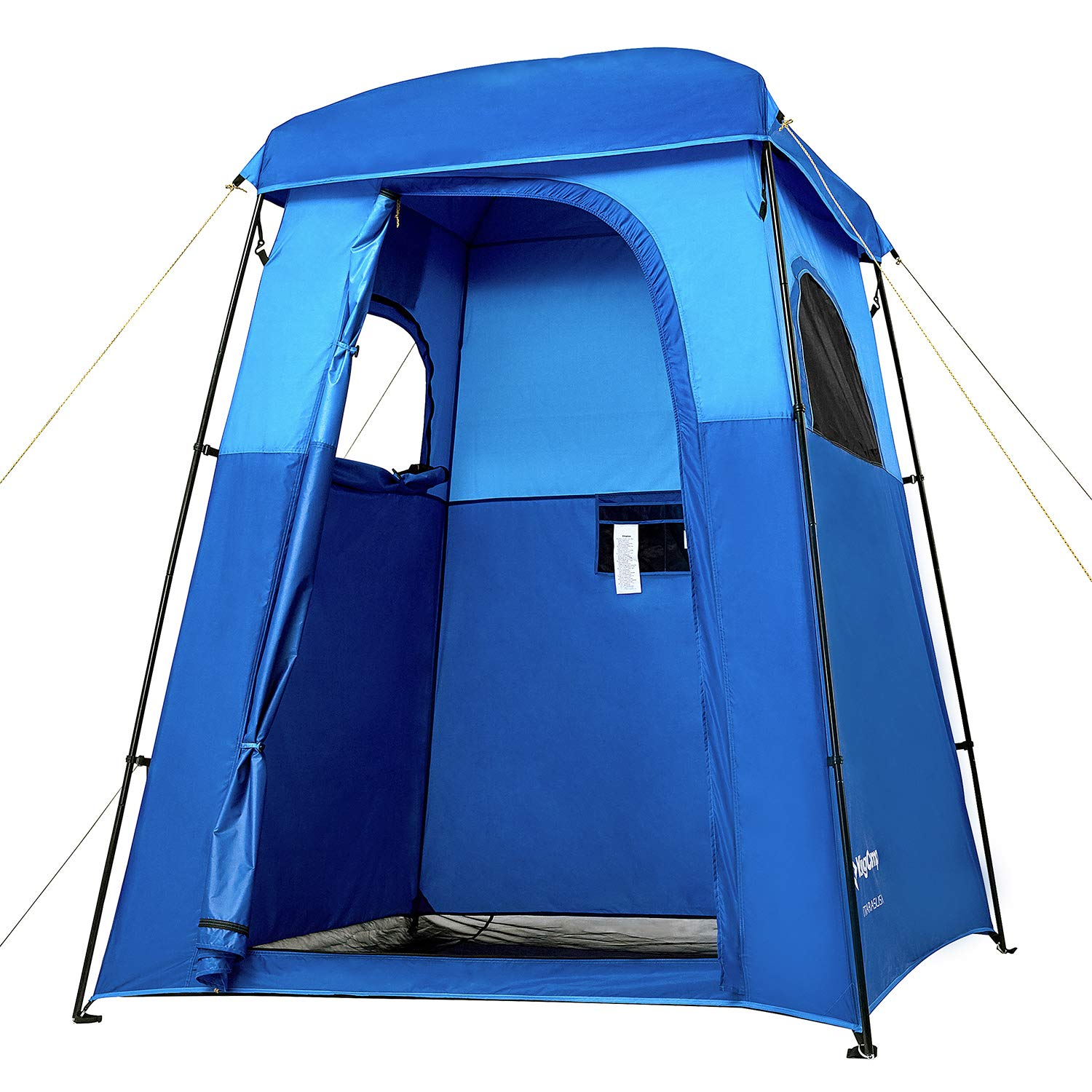 KingCamp Oversize Privacy Shelter Tent, Easy Set Up Portable Shower Tent, Privacy Toilet Tent, Changing Room, Rain Shelter with Window - for Camping and Beach with Portable Carrying Case by KingCamp
