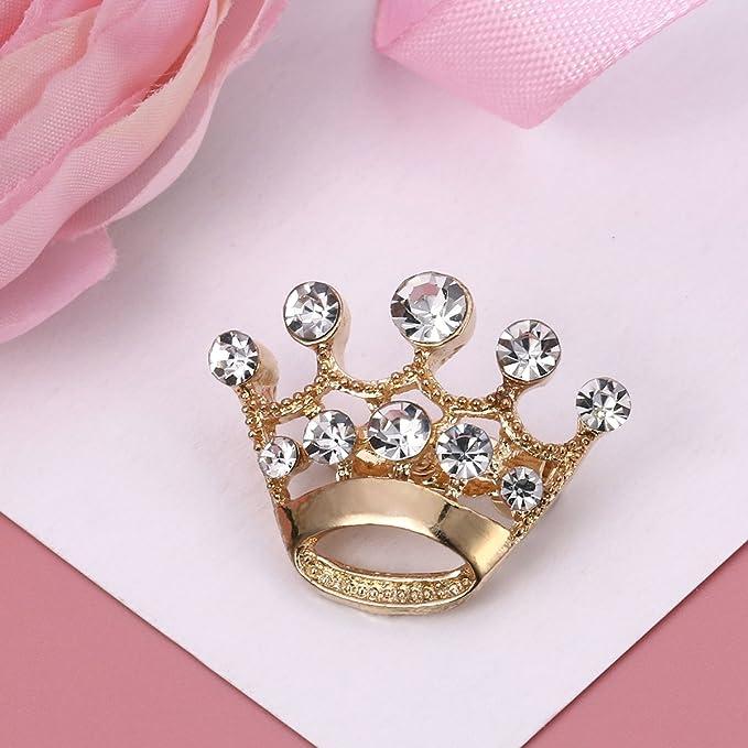 Or BESTOYARD 12/pi/èces Couronne Broche Pin Mode Diamant F/ête Mariage Spectacle Diad/ème Couronne Corset pour Mariage Fournitures pour Saint Valentin