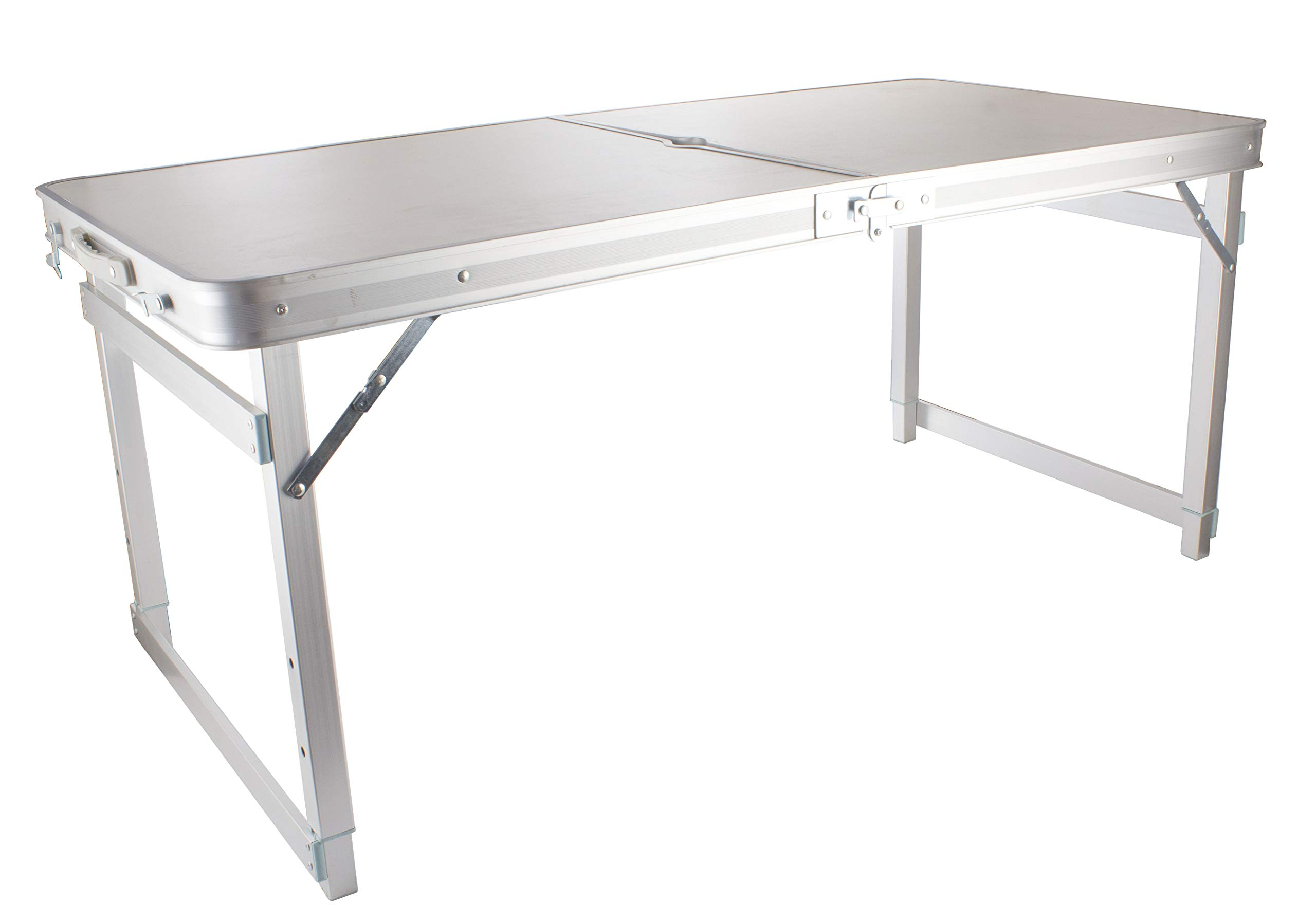 - Expresso 4 Foot Folding Table With Carrying Handle, Portable