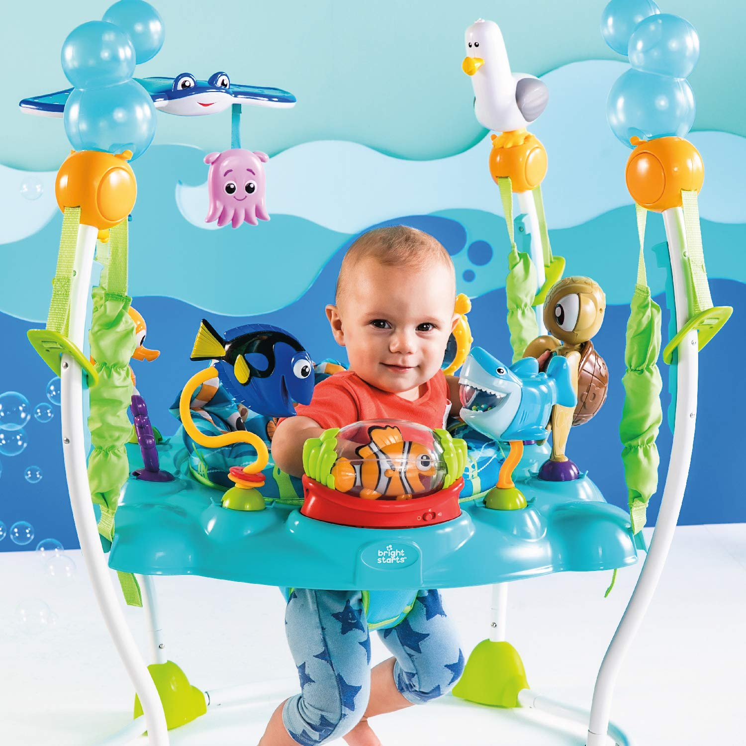 e5413b643 Amazon.com   Disney Baby Finding Nemo Sea of Activities Jumper   Baby