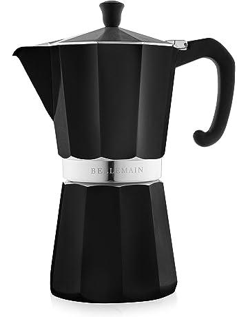 4 Tazas Cafetera Moka Cl/ásica Recipiente de Acero para hacer Caf/é con Mango Ergon/ómico Mantiene el Calor Cafetera Italiana,Cafetera Espressos de Acero Inoxidable