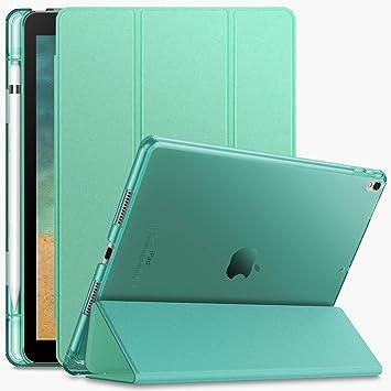Infiland Funda para iPad Air 3 10,5 (3ª Generación 2019)/iPad Pro 10,5 2017,Smart Translúcido Case Cascara con portaplumas y Auto Reposo/Activación ...