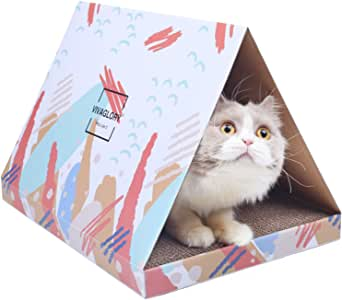 Vivaglory Caja de rascador para Gatos, de cartón, para Gatos Grandes: Amazon.es: Productos para mascotas