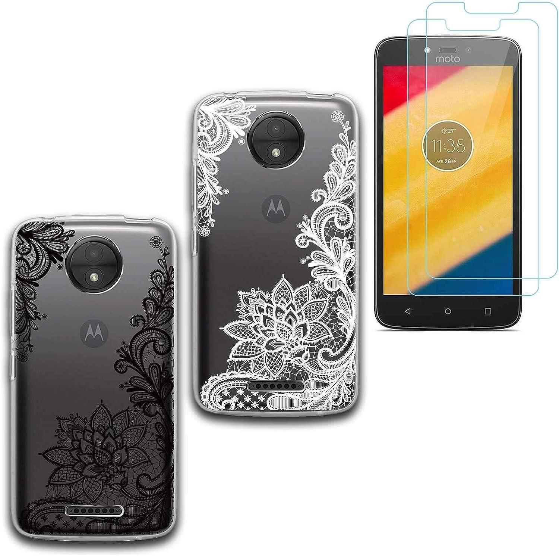 jrester 2 X Funda Motorola Moto C,Totem Suavee Silicona Smartphone ...
